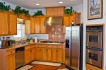 Spacious kitchen with stainless appliances