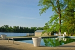 Enjoy unobstructed views of the lake and all its wildlife from the pool