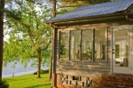 Sunroom provides stunning views of the 38 acre lake