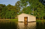 Boathouse with power and water