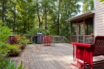 Huge deck is a grill master's dream