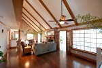 Spacious living area with vaulted ceilings