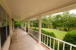 Large southern front porch with excellent vistas