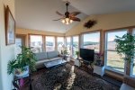 Sunroom is ideal for relaxing & wildlife viewing