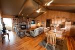 Comfortable den & kitchen area
