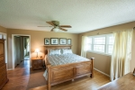 Master bedroom welcomes the soft morning light