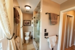Master bath includes beautiful flooring and spacious walk in shower