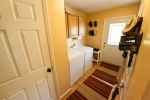 Laundry room and pantry ideally located just inside the side entrance