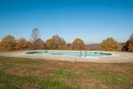 Heated pool overlooks the surrounding countryside