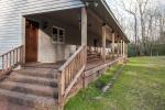 Spacious front porch measures 660 sqft