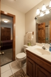 Shared full bath between the two guest bedrooms