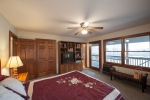 Expansive views from the master windows