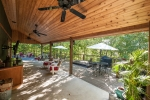 Impressive patio and deck space
