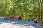 Casual firepit located beside the lodge and deck