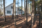 Loblolly pines serve as a privacy buffer between the home and road