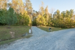 Gravel driveway and entrance into the property