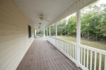 Rear porch equipped with ceiling fans