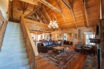 Gorgeous vaulted and beamed T & G ceilings and heart pine floors