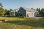 Custom home constructed in 2010 and is topped off with a 50 year metal roof