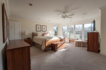 Master suite with lovely natural light and views