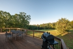 Enjoy scenic views from the side deck