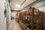 Sleeping quarters in the basement