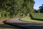 Very well maintained 1/2 mile long gravel driveway