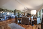 Heart pine floors throughout the home
