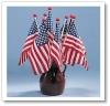 "4x6"" American Saf-T-Ball Stick Flag"