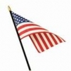 "8x12"" American Stick Flag - Rayon"