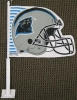 Carolina Panthers Helmet Car Flag