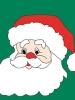 """34"""" x 44"""" Santa Face Decorative Banner"""