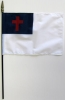 """Christian Rayon Stick Flag - 4x6"""""""