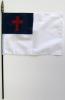 """Christian Rayon Stick Flag - 12x18"""""""