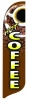 COFFEE Quill Flag Kit - 2' x 11'