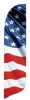 Stars and Stripes Waving Quill Flag Kit - 2' x 11'