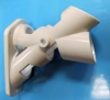 "Plastic Two-Way Bracket - White 1.25"""