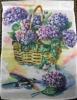 """11"""" x 15"""" Hydrangea Basket Decorative Garden Banner"""