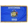 3x5' Wisconsin State Flag - Nylon Indoor