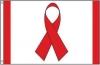Red Ribbon Awareness Flag