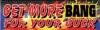 Get More Bang Fireworks Vinyl Banner - 3' x 10' - FWKS110