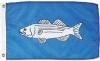 "Striped Bass Nautical Fun Flag - Nylon - 12x18"""