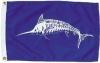 """White Marlin Nautical Fun Flag - Nylon - 12x18"""""""