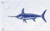 """Swordfish Nautical Fun Flag - Nylon - 12x18"""""""