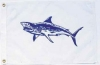 "Mako Shark Nautical Fun Flag - Nylon - 12x18"""