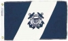 "US Coast Guard Auxiliary Flag - Nylon - 12x19.5"""