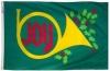 3x5' Joy Horn Holiday Flag - Nylon Outdoor