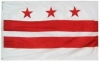 3x5' District of Columbia Flag - Nylon