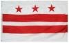5x8' District of Columbia Flag - Nylon