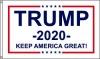3x5' Trump 2020 Flag - Keep America Great - White Background